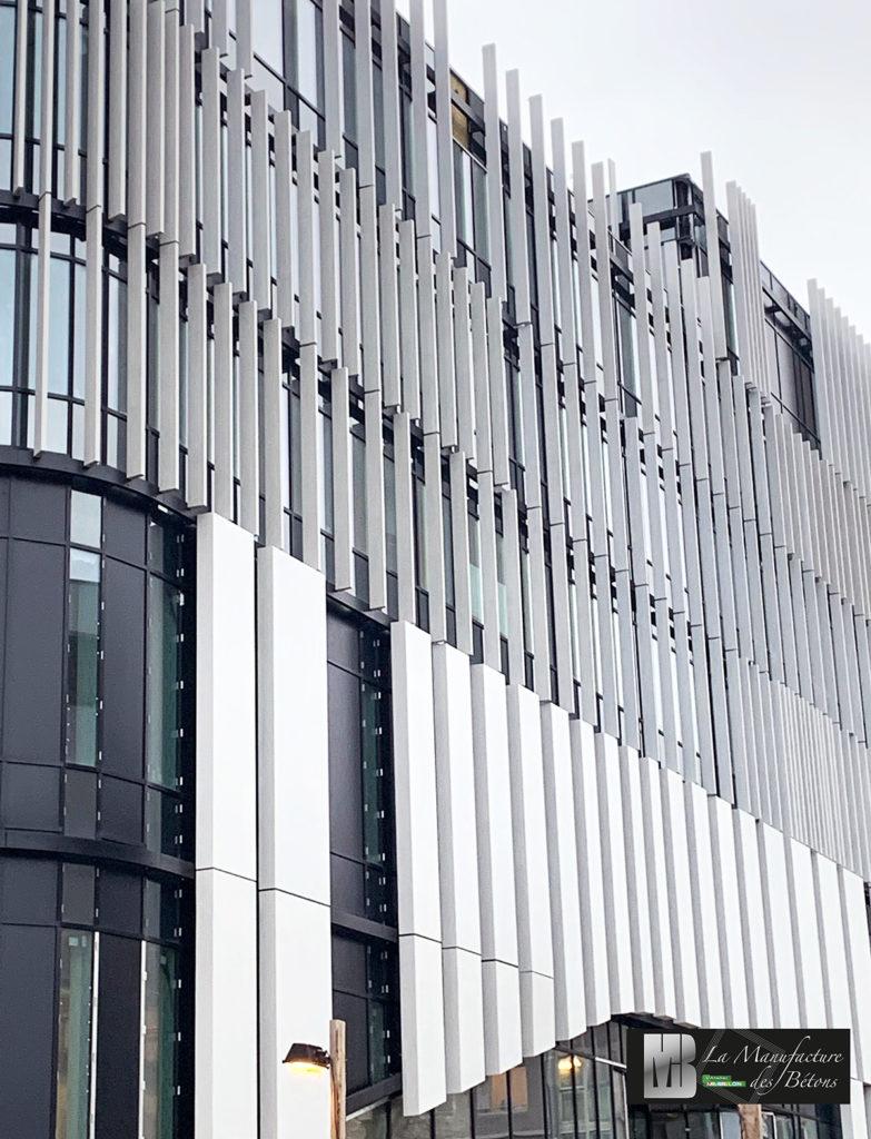 Facade beton acrhitectonique Belgique par La Manufacture des Bétons